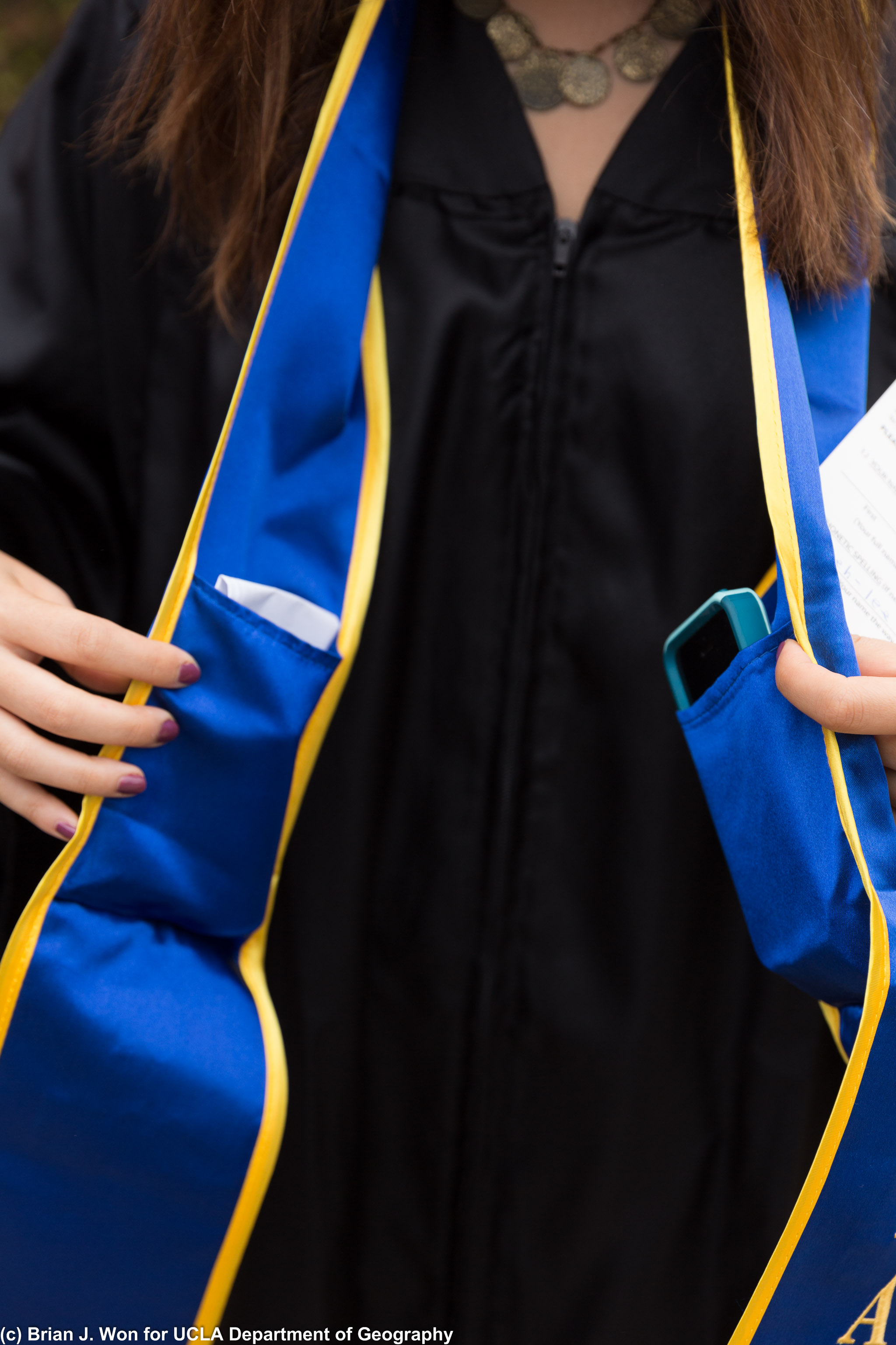Cap and gown setups have pockets now!