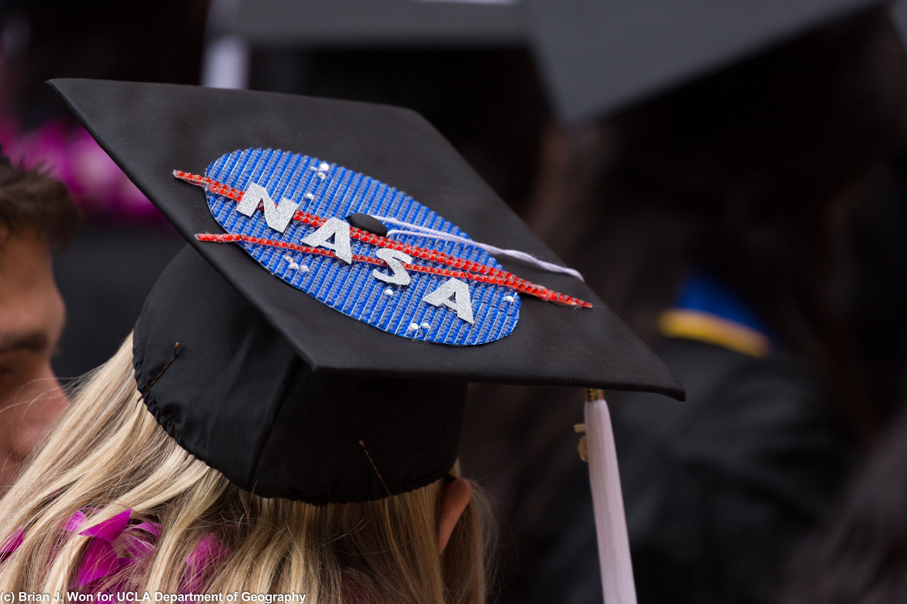 Different angle of the NASA cap