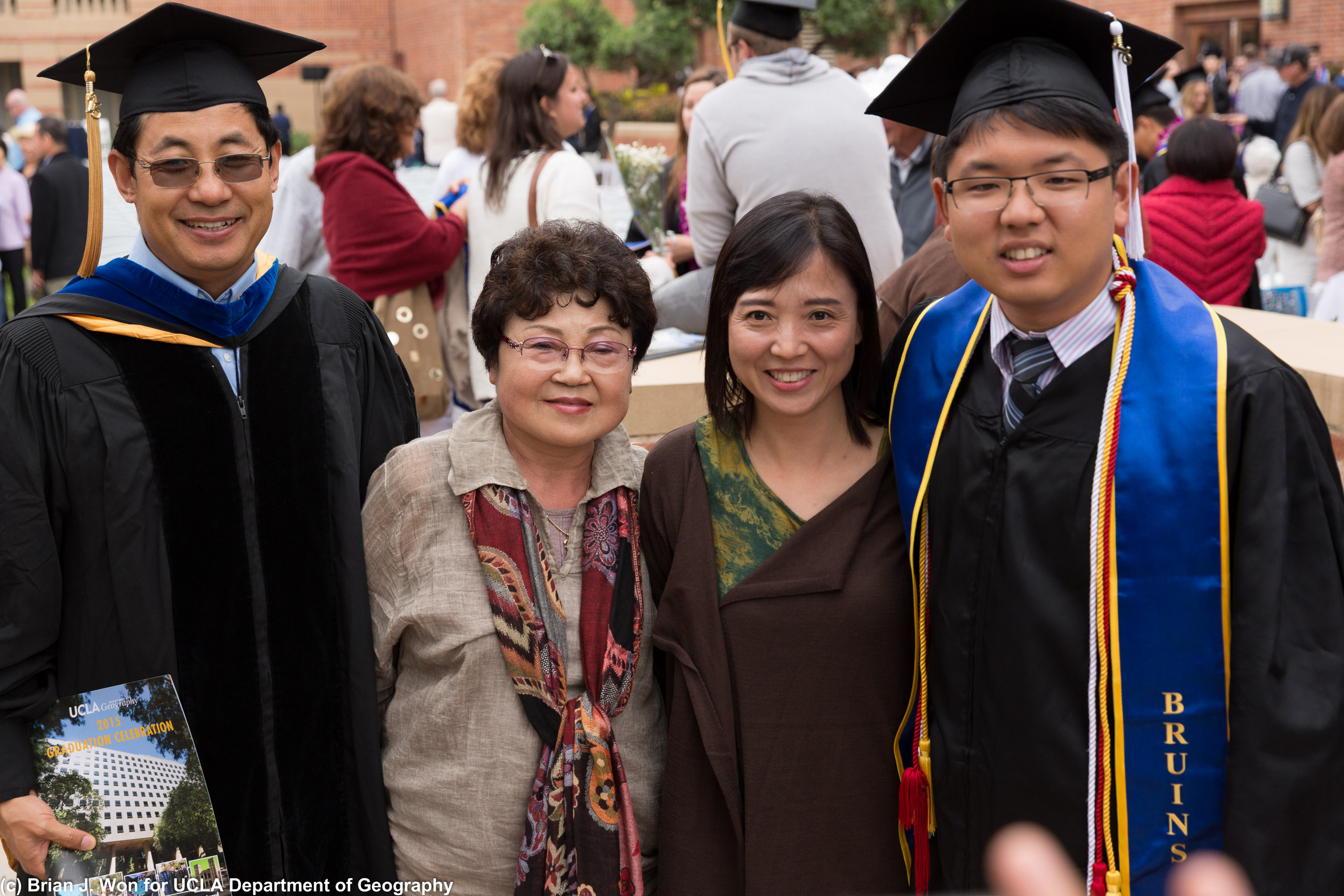 With Professor Sheng and family