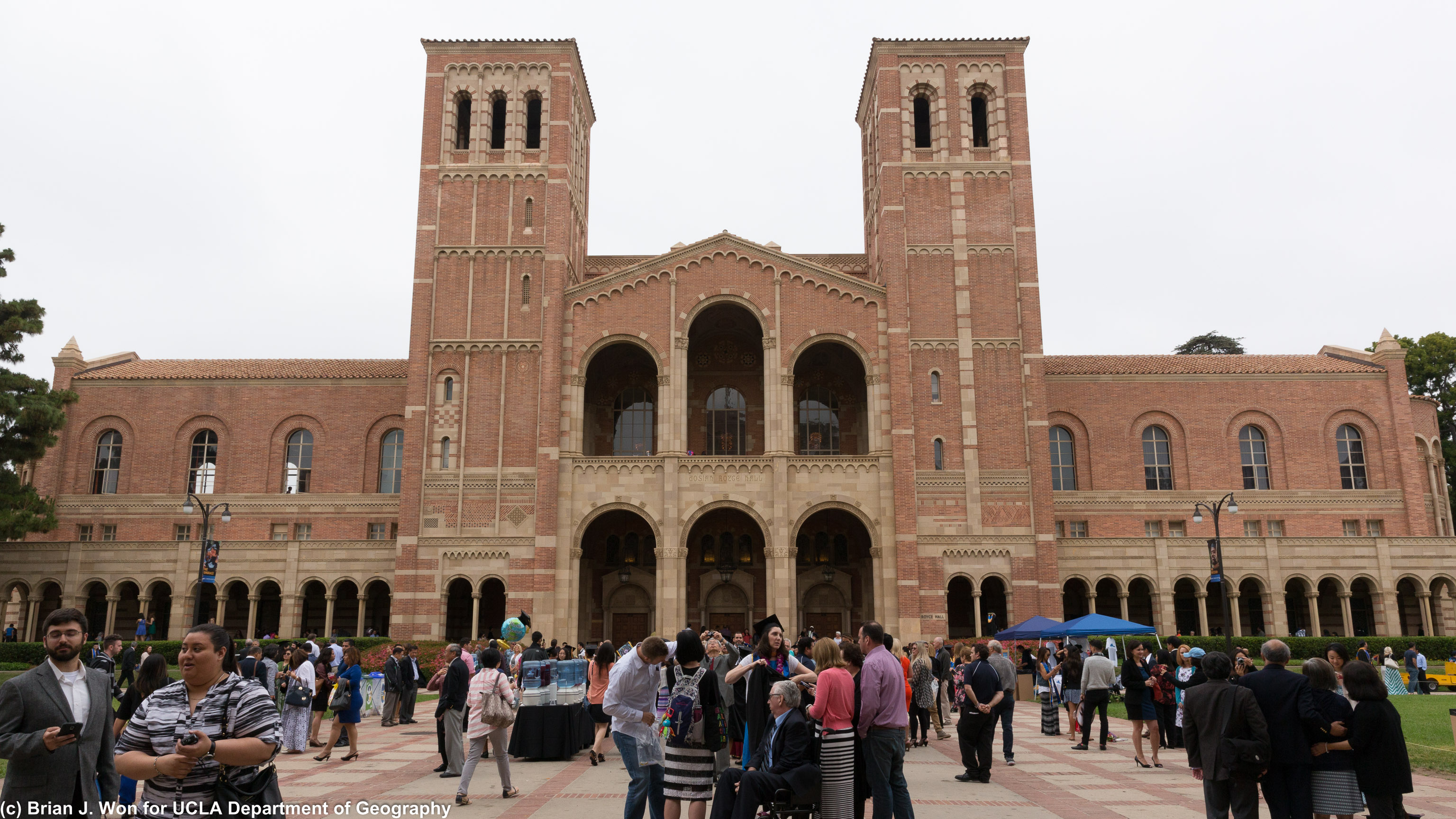 Royce Hall, with one of many other graduations this weekend