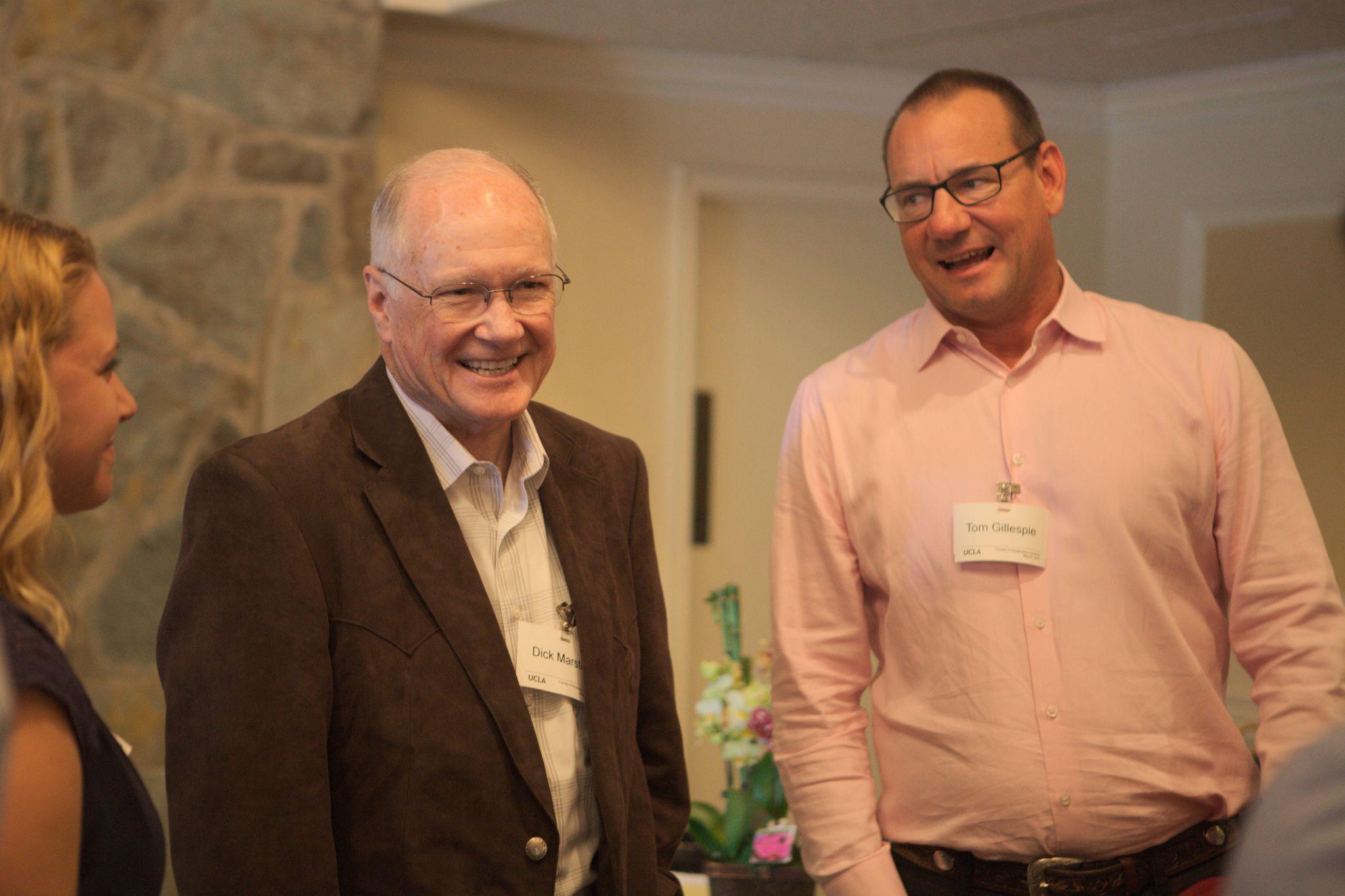 Professor Gillespie and Dick Marston