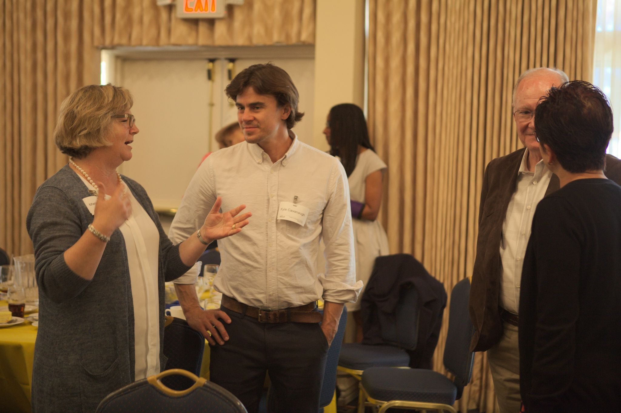 Professor Cavanaugh and Marianne Wright