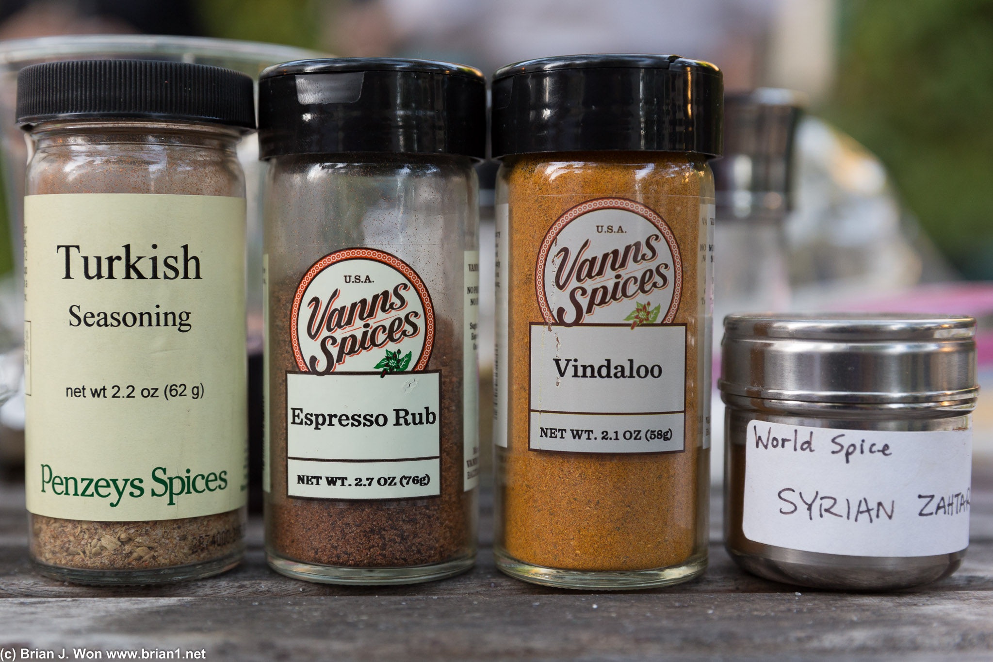 Professor Moore's spice collection
