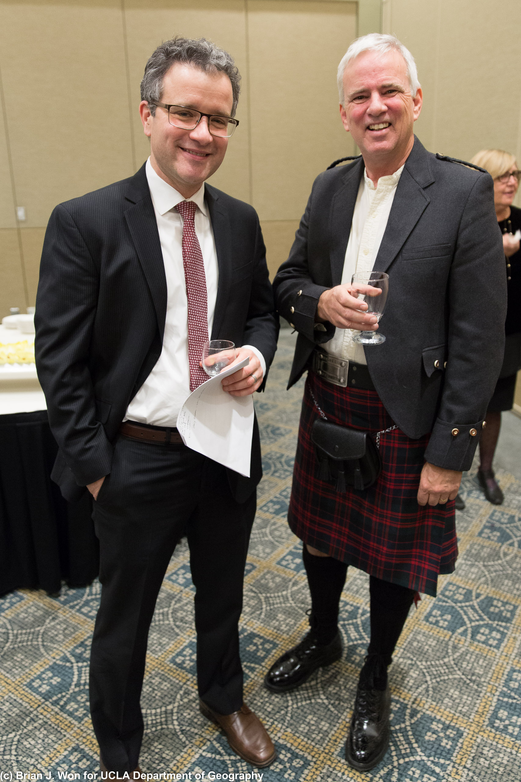 Professor and Department Chair Laurence C. Smith with Professor and Muir Chair Glen MacDonald