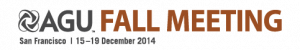 AGU Fall  Meeting 2014 logo