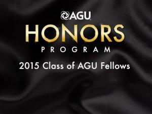 AGU 2015 Honors banner