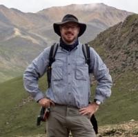 Greg Okin in the field