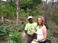 Judith Carney working in the field