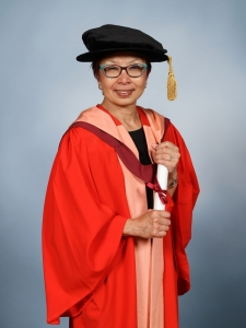 C. Cindy Fan receieves honorary degree