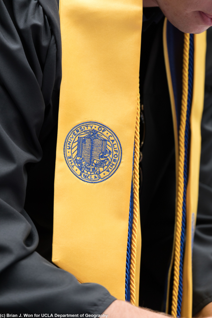 Photo of UCLA graduation sash