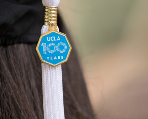Photo of UCLA 100 years graduation tassel