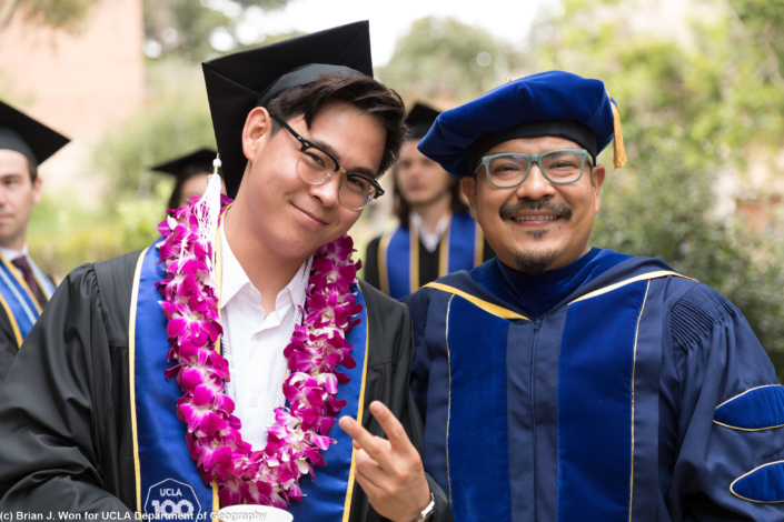 Photo of student with professor