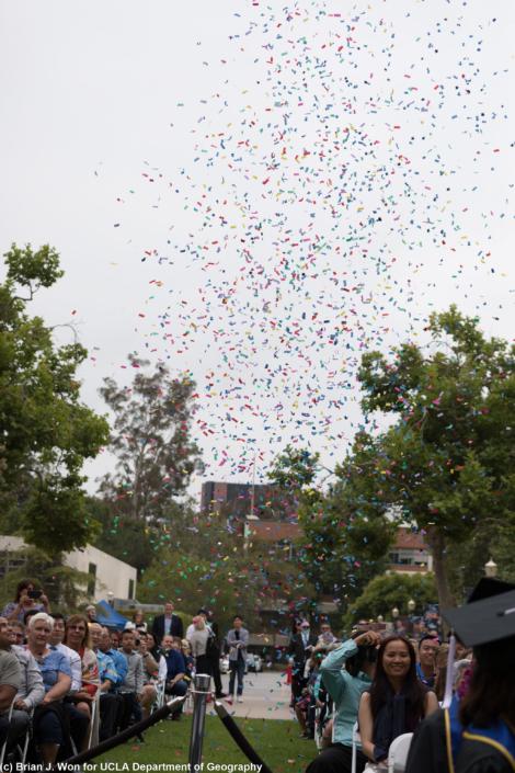 Photo of confetti in the air