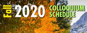 decorative banner annoucing colloquiums for 2020 Fall