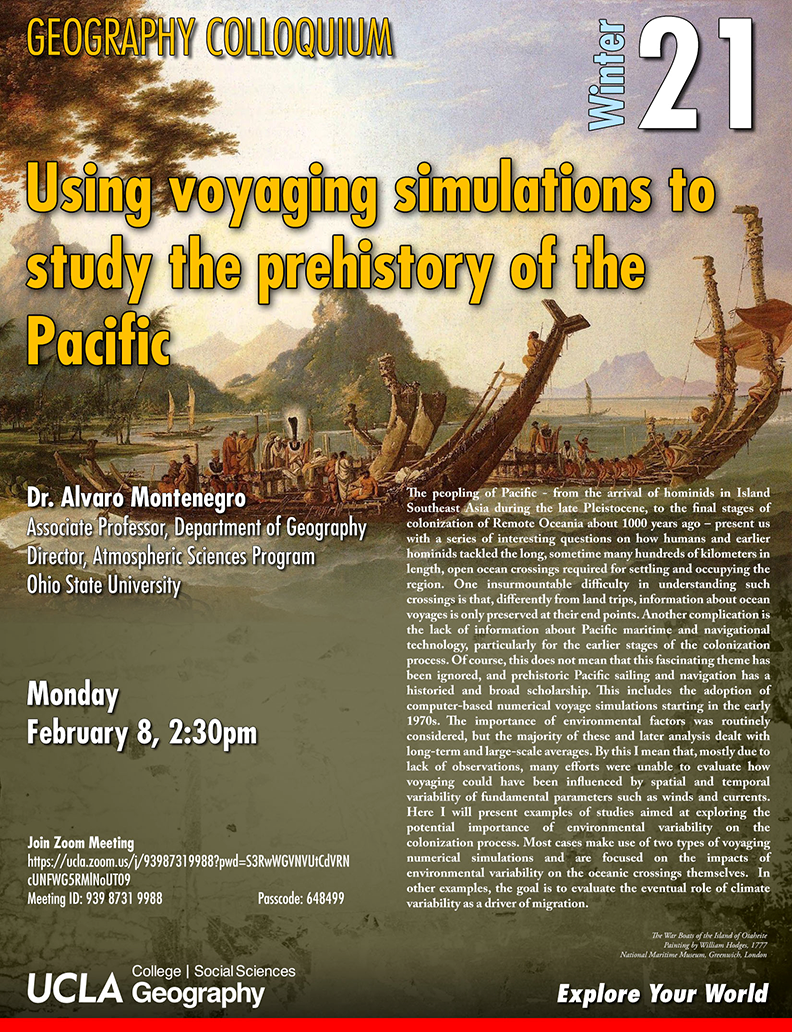 using voyaging simulations to study the prehistory of the pacific