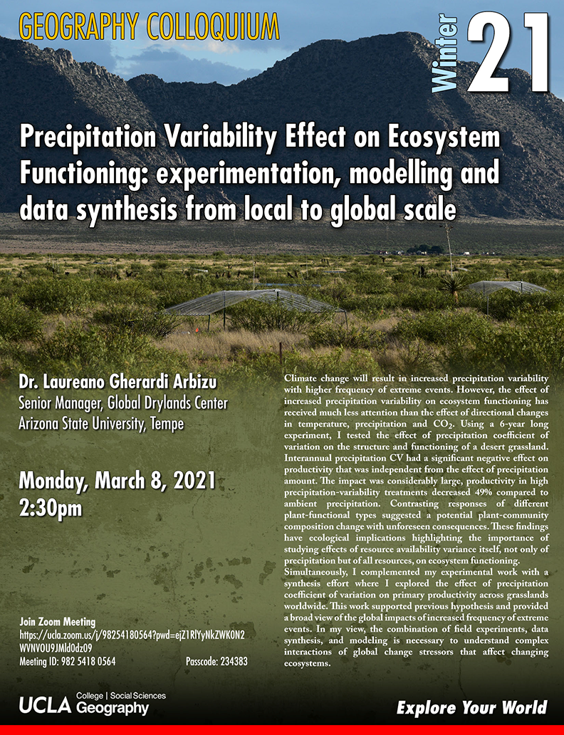 precipitation variability effect on ecosystem functioning: experimentation, modelling and data synthesis from local to global scale