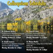 Fall 2021 Colloquium Schedule